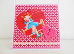 Retro Inspired Valentine's Day Card by picocrafts on Etsy