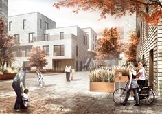 JAJA & ONV Architects Win Copenhagen Affordable Housing Competition | Rendering of the winning design for the new AlmenBolig+ housing concept (Image: ONV Architects & JAJA Architects) | Bustler