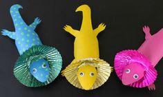 Heartfelt Balance Handmade Life: 18 Colorful & Fun Cardboard Tube Crafts for Kids Animal Crafts For Kids, Animals For Kids, Art For Kids, Cardboard Tube Crafts, Toilet Paper Roll Crafts, Cardboard Playhouse, Australia Crafts, Australia Day, Australian Animals