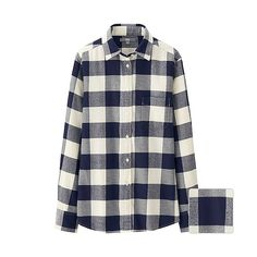WOMEN Flannel Check Long Sleeve Shirt - UNIQLO