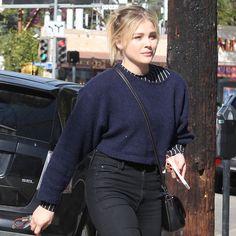 Chloë Grace Moretz arriving at a salon in Beverly Hills on December 2, 2016