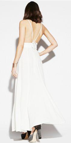 Odette Tier Cuff and Reformation's PIERRE DRESS ..  http://thereformation.com/PIERRE-DRESS-IVORY.html