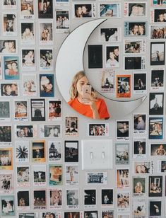 Polaroid wall h o m e y in 2019 room decor, dorm room, diy room. Dream Rooms, Dream Bedroom, Girls Bedroom, Girl Rooms, Teen Rooms, Photowall Ideas, Images Murales, Polaroid Wall, Polaroid Ideas