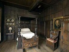 Old world bedroom. That's a lot of wood!