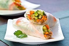 Fresh Vegetable Rolls - Diabetes Food Choices: 1 Carbohydrates + 0.5 Fats
