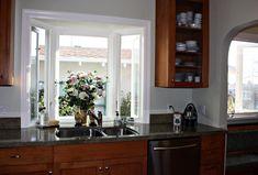 Garden Window in the kitchen Kitchen Garden Window, Greenhouse Kitchen, Kitchen Sink Window, Garden Windows, Kitchen Cabinets, Kitchen Sale, New Kitchen, Kitchen Ideas, Home Depot Shutters