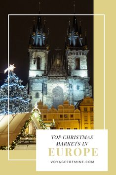 With the holiday season fast approaching there's no better time than now to begin planning for a Christmas trip this winter. Make sure to not miss any of the top Christmas markets to see in Europe in this helpful guide. Christmas Markets Europe, Christmas Travel, Holiday Travel, Winter Christmas, Europe Holidays, Camping Holiday, Backpacking Europe, Europe Travel Guide, Europe Destinations