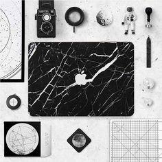 MacBook Decal - Black Marble