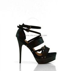 High heel sandal with straps black Confident Woman, Strap Sandals, Preppy, High Heels, Classy, Pumps, Elegant, Clothes, Shoes