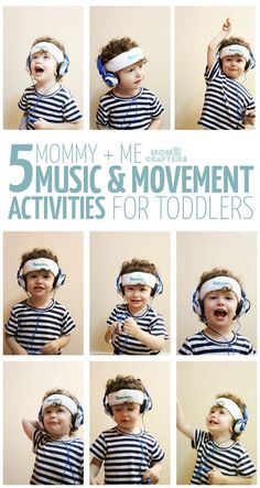 I love these mommy and baby gross motor activities! 5 Mommy and Me Music and Movement activities for toddlers - you'll love doing this with your 1-3 year old! #SagtoSwag (ad)