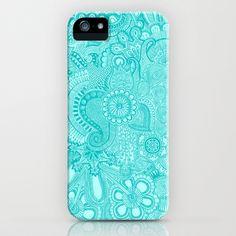 millions aqua iPhone Case by Taylor St. Claire - $35.00