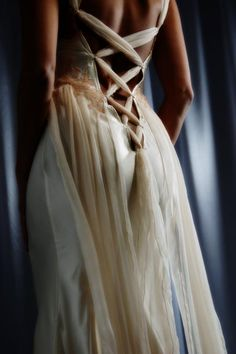 beautiful backing to this lingerie gown