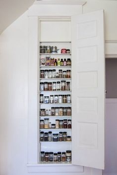 Spice cabinet between 2x4's