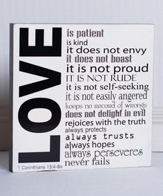 Adams & Co. Love Is Box Sign | zulily