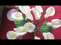 How to make Calla Lily paper flower tutorial - fast version - YouTube