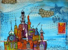 Designed by Azoline using stamps from Birgit Koopsen for Carabelle Studio