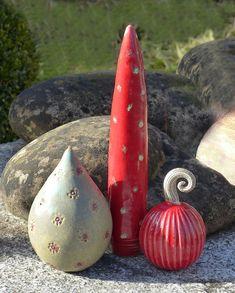 Pflanzen- & Gartenstecker - Beetstecker Ensemle rot-grün - ein Designerstück von Brigitte_Peglow bei DaWanda