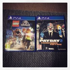 Two new #ps4 pickups. LEGO Jurassic World and Payday 2: Crimewave Edition. #LEGO #Sony #videogames