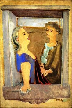 Mark Rothko - Two Women at the Window, 1937. #arte