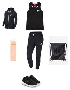 """Untitled #5"" by kennedy-lewis-1 on Polyvore featuring NIKE, adidas Originals and ban.do"