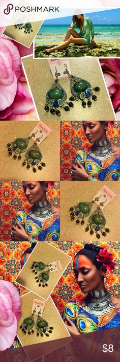 ✳️Gorgeous bohemian earrings!✳️ Gorgeous and beautiful bohemian fashion earrings!! Gorgeous to the eye and perfect for a vacation or for summer!! Last pair!! Jewelry Earrings