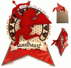 Silhouette Design Store: cupid hearts teepee card & envelope  by Snapdragon Snippets