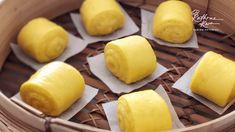 Pumpkin Buns Recipe, Pumpkin Recipes, Steamed Cake, Steamed Buns, Sweet Potato Buns, Bao Buns, Steam Recipes, Individual Cakes, Pastry Art
