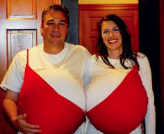 If you're pregnant, you don't want to miss out on the Halloween fun 'cause you don't have anything to wear that fits! There are tons of available Halloween costumes for pregnant women. Crazy Halloween Costumes, Funny Costumes, Diy Costumes, Halloween Diy, Couple Costumes, Costume Ideas, Woman Costumes, Pirate Costumes, Group Costumes