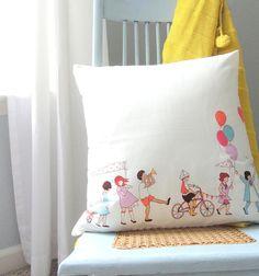 Designer Decorative Pillow  Sarah Jane Children at by pickfair, $26.00