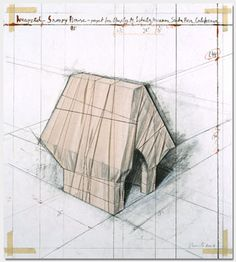 Christo wraps Snoopy's house--love the presentation, love the play!
