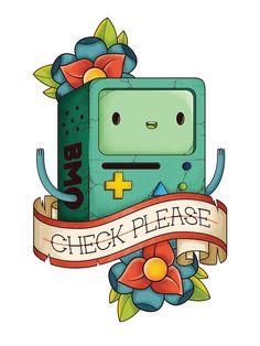 BMO Illustration by Daniel Mackey Adventure Time Tattoo, Tatuagem Adventure Time, Cartoon Network, Marceline, Adveture Time, Finn The Human, Jake The Dogs, Bravest Warriors, Bubbline
