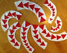Paper Piecing Curved Geese, A tutorial to coincide with the pattern which is available on Craftsy.