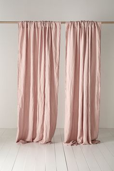Add colour and softness to your space with our Blush Pink 100% Linen Loop Top Curtains. Just what you need for creating an interior with character, these curtains (sold as singles) are woven from the finest French flax by our friends in Portugal, as part of our natural bedding and accessories range, and are laundered for a super-soft handle. #pinkdecor #curtainsideas