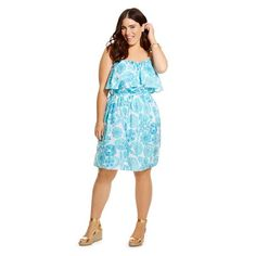 Lilly Pulitzer for Target Women\'s Plus Size Satin Dress - Nosie ...