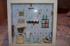 Escena de Cuarto de Baño en miniatura