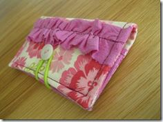 making a business card holder from fabric