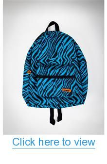 Turquoise and Black Tiger Backpack #Turquoise #Black #Tiger #Backpack