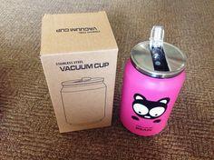 Thermos - Cute Stainless Steel Vacuum Cup (Pink) - Supplier.id  - Thermos dengan desain yang lucu - Digunakan agar minuman tetap panas di dalam thermos - Diameter 7cm, panjang 13cm - 250 ml  Harga @98.000