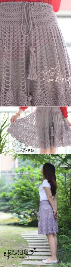 Ideas For Crochet Summer Hat Pattern Yarns Crochet Skirt Pattern, Crochet Skirts, Crochet Clothes, Crochet Patterns, Sewing Patterns, Dress Patterns, Doily Patterns, Coat Patterns, Black Crochet Dress