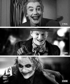The Joker through the years #superheroes #thejoker #batman