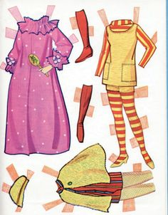 Vintage-Whitman-Barbie-Christie-Stacey-paper-dolls-1968-uncut-MOD-ERA
