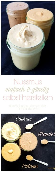 Just make nut nut yourself-Nussmus einfach selber machen Mini tip: Make nut nut easily and inexpensively - Apple Recipes, Raw Food Recipes, Sweet Recipes, Dessert Recipes, Dessert Oreo, Tasty, Yummy Food, Vegan Sweets, Diy Food