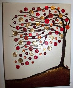 Button tree by   Kimberly's Unique Artique