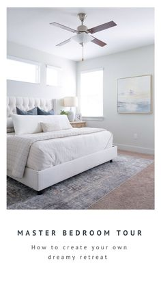 An in-depth guide to turning this basic rental home bedroom into a serene coastal retreat. This room Coastal Master Bedroom, Coastal Bedrooms, Coastal Living Rooms, Cozy Bedroom, Home Decor Bedroom, Modern Bedroom, Bedroom Furniture, Furniture Ideas, Bedroom Retreat