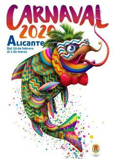 Carnestoltes - ALICANTE City & Beach Alicante, City Beach, Illustration, Animals, Posters, Design, Carnival, Event Posters, Bonfires