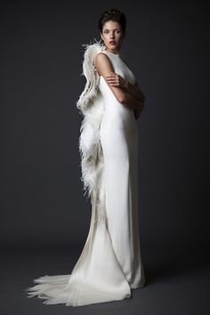 Long white dress you can get it from your atelier website