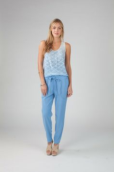 Kellie pant in French Blue - Annie Griffin Spring '14