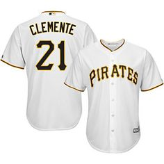 ed9623317c0 Get this Pittsburgh Pirates Roberto Clemente Home Cool Base Replica Jersey  at ThePittsburghFan.com Roberto