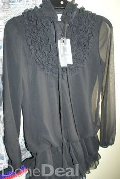 Chiffon blouse For Sale in Monaghan : - DoneDeal. Clothes For Sale, Clothes For Women, What To Wear, Chiffon, Ruffle Blouse, Long Sleeve, Sleeves, Stuff To Buy, Tops