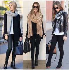 Stylish outfit idea to copy ♥ For more inspiration join our group Amazing Things ♥ You might also like these related products: - Sandals ->. Casual Winter Outfits, Winter Fashion Outfits, Look Fashion, Stylish Outfits, Fall Outfits, Black Booties Outfit, Winter Mode, Mode Outfits, Look Cool